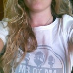 Leah Mathies with our new t-shirt!