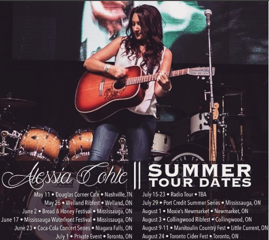 alessia cohle summer tour