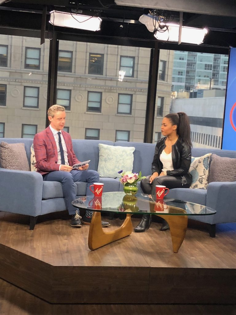 ana stasia breakfast television publicity montreal